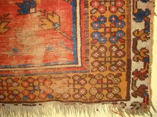 Anatolian Turkish prayer rug, Konya? Very small size 29X40 inches 74X102 Cm, perhaps a child prayer rug.