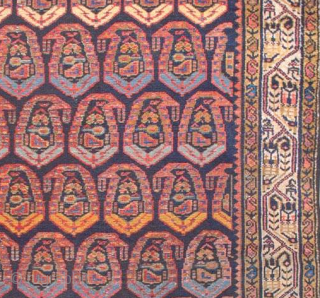 Antique Boroujerd-Iran rug from early 20th century 1910-1920. size: 123*194 wool/cotton