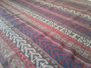 Highly collectible antique jajim from bidjar-Iran belongs to the end of 19th century.