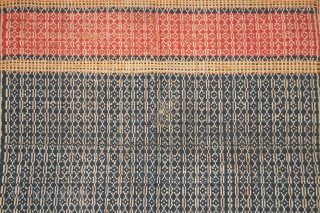 #rb052 a large Tampan ceremonial cloth from Putihdo Lampung region south Sumatra Indonesia, Paminggir people handspun cotton natural dyes supplementary weft weave, good condition size: 67 cm x 72 cm