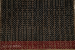 #rb052 a large Tampan ceremonial cloth from Putihdo Lampung region south Sumatra Indonesia, Paminggir people handspun cotton natural dyes supplementary weft weave, good condition size: 59 cm x 62 cm