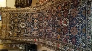 1870  beautiful antique caucasian rug size 6x14