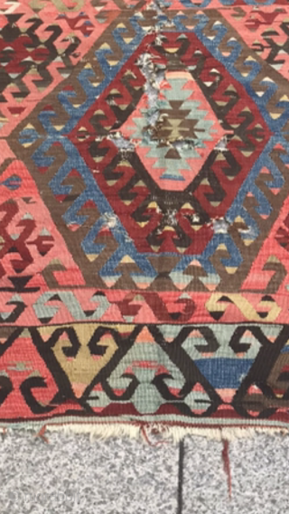 Anatolia kilim,Size:348x174 cm