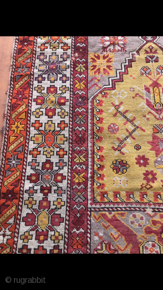 Turkey,Manisa region,Prayer rug. Size:143 x 100 cm