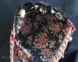 A very RARE antique central Asian bridal hat dating to the 19th century l, possibly attributed to some sub group of Uzbek people. This important museum grade ethnographic piece is made of  ...