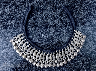 A very rare type of antique silver beaded Central Asian choker necklace possibly made around Nuristan region of Afghanistan , dating to the 19th century. This rare necklace is very elegant and  ...