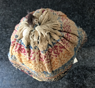 A very unique antique Uzbek Bukhara silk embroidered dervish hat dating to second half of 19th century. The Sufi dervish / yogi / mystical spiritual religious men of Central Asia were very  ...