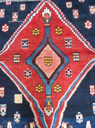 A striking Lori or Qashqai gabbeh, c.1930s. Great graphics and in excellent condition. On a cotton foundation. 192 x 155cm