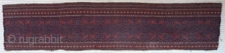 A Central Asian tent-band fragment, 150 x 32cm