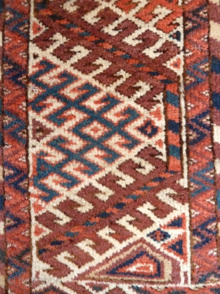 A mid-19th Century Kizil Ayak Turkmen main carpet, 3x2m. Excellent colour with subtle variations of design make this earlier example more interesting than most of its type. One or two small repairs  ...