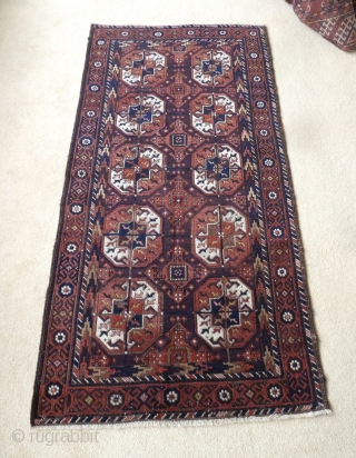 A good 19th Century Belouch with excellent rich colours and silky wool. 173 x 85cm