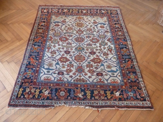 A charming white-field Bijar, with a few bites at one end otherwise in great condition. 170 x 138 cm