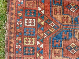 An early Ersari long carpet. 302 x 185cm. This carpet is part of a small group of extant pieces that appears to have been woven in the Amu Darya oases before the  ...