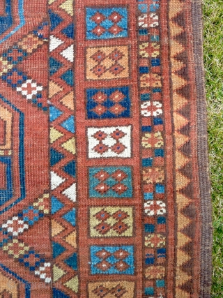 A rare example of a pre-Russian period Ersari room carpet, woven for the local market.