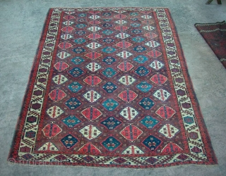 Chodor Main Carpet, Mid 19th century. approx: 6' x 8'. Beautiful aubergine ground. Contact for condition details.