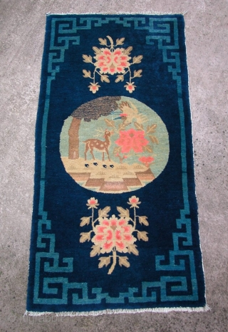 """Bautou Chinese, 1st 3rd 20th century, 4'3"""" x 2'2"""". Nice condition."""