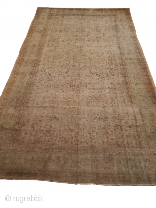 """Origin: Mashad ;  Circa: 1930 ;  Size: 9'8"""" x 16'9"""" Stock# - 62546  All pictures are un-edited to try and show the rugs true colors."""