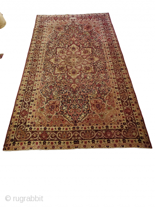 "Origin: Lavar-Kerman ; Circa: 1900 ; Size: 7'0"" x 12'0"" ; Stock# - 37029