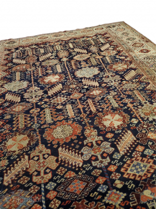 "Shekarlu Qashqai - rare, handmade, one of a kind!  Origin: Shekarlu Qashqai; Circa: 1900 Size: 5'2"" x 6'3"""