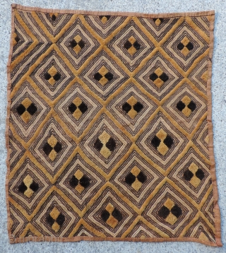 Kuba Raffia Pile Status Cloth.  Shoowa People, D.R. Congo, early 20th century. Size: 18 x 21 inches.  More examples available upon request.