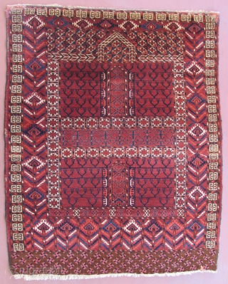 Tekke Engsi, Mdi 19th century, 59 x 47 inches.  Nice back.