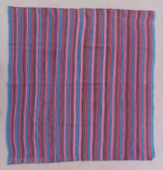 Aymara Mantle, (wallas)  Lake Titicaca Region of  Peru or Boilvia.  Mid 19th century or before.  48 x 45.5 inches.  Mantles such this are known for their fine  ...