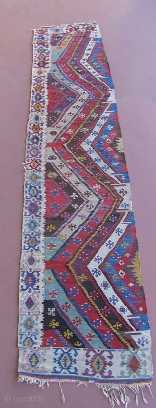 Anatolian Kilim.  19th century. South Eastern Turkey, Malatya region.