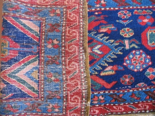 Bedding bag face?  Iran, 19th century. Ever seen one of these?  44 x 19 inches.  Very nice colors