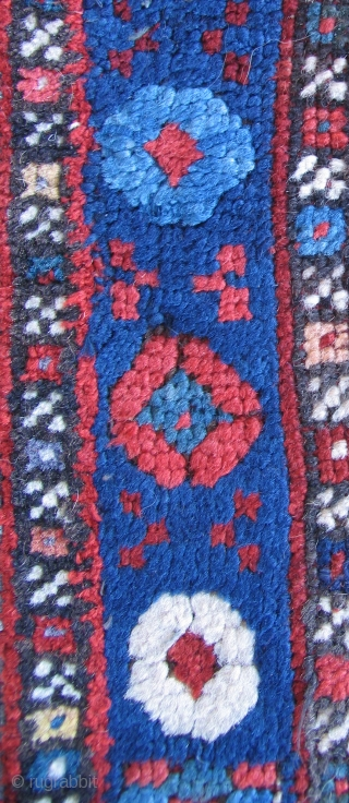 Anatolian Village Rug.  Originally an 18th century piece, now mostly second half of the 20th century.  Size: 58 x 72 inches.  Once a very nice early rug.  Now  ...
