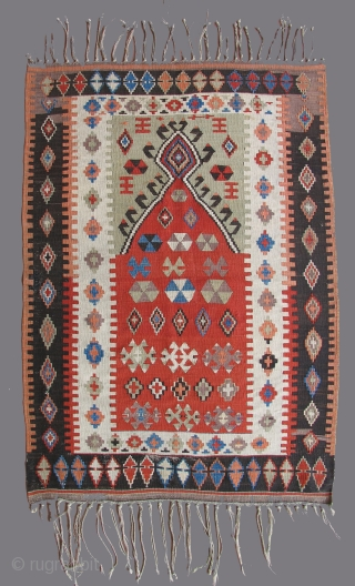 Nice Anatolian Prayer kilim, 19th century.