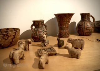 Andean artifacts from the high Altiplano region.  Textiles, ceramics, stone carvings, wood and basketry dating from A.D. 800 - the 19th century.  Others available.  Inquire of see my pages  ...