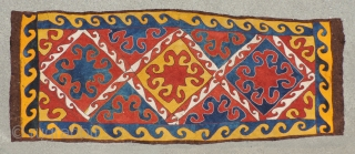 Central Asian pieced felt carpet or hanging .  Uzbekistan, 19th/20th century. Size:47 x 122 inches.