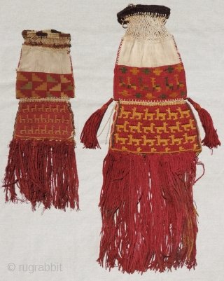 Click on this detail of an important Incan bag to compare with other published examples of the type.  Dating to A.D. 1400 - 1540 these rare, complex, Andean weavings are thought  ...