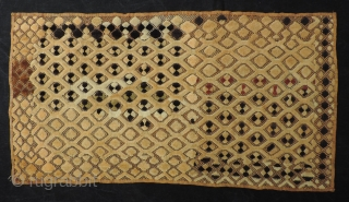 Kuba pile raffia cloth panel.  Shoowa people, D.R. Congo. Unusual size (20 x 37.5 inches).  The condition is excellent and the price reasonable.