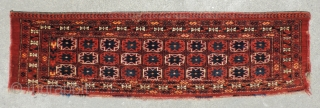 This 19th century Middle Amu Daria Turkmen trapping with star compartment design is reminiscent of some Salor weavings with a similar star compartment arrangement.  The design is an old one, apparently  ...