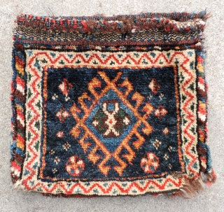 Complete set of miniature South Persian, Luri bags. Size: 12 x 23 inches.  Full, glossy pile and good dyes. 19th century.