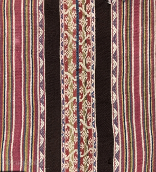 Fragment of a large and important Aymara Poncho from the first part of the 19th century or before. Ponchos such as this example were among the most prestigious weavings made by the  ...