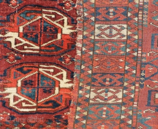 Middle Amu Daria region Ersari juval, 3rd quarter of the 19th century.  Kizil Ayak type guys.  All dyes natural.  Nice wool and color with good pile. 47 x 25  ...