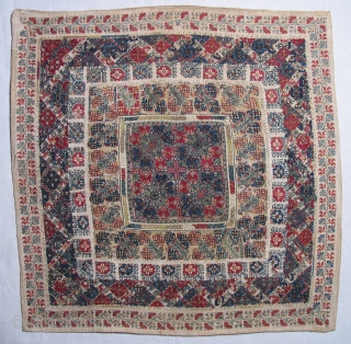 Greek Island Embroidery,  19th century, Island of Lesbos (Mytilini).  Size: 35 x 35 inches.