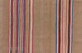Warp-faced plane weaves are pretty basic.  Some would say they were among earliest loom woven structures from the Andes.  This first half of the 19th century Aymara textile is very  ...