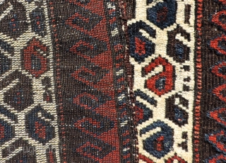 Unusual oversized Baluch salt bag face.  19th century.  Size: 23 x 26 inches.  See it and other Baluch, Turkmen, and many other interesting textiles in San Francisco this week.  ...