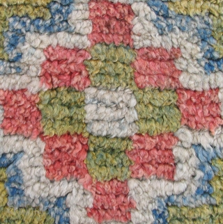 Tibetan three medallion rug. Luminous and lush with a delicate subtle, palette - the rug is old. A so-called Wangden type rug with the warp predominant back. The knots were tied over  ...