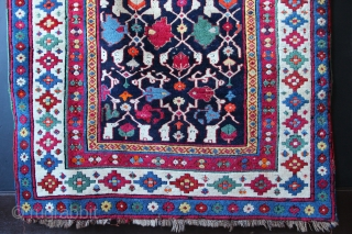 Talish area weaving with a Konagkend pattern. Despite the obvious aniline dyes, I think this rug works superbly and is an outstanding example of top quality work(wo)manship. The weave is fine and  ...