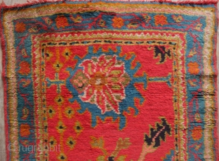"""Pair of antique NARROW Oushak runners, each 3'1""""-3'2"""" x 11'7"""" in full pile, no repairs, with lovely colours. One is missing a couple of rows at one end only. That's 23' of  ..."""