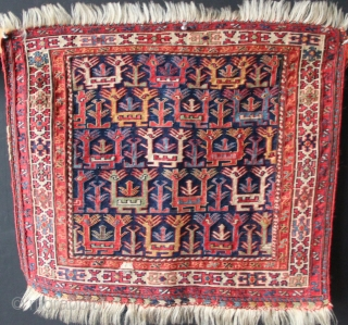 "Mid 19th century Shahsavan soumac bagface. Superb example. 2'0"" x 1'9.5"" in excellent condition with one small, faded old repair."