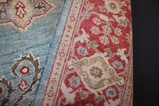"Ziegler & Co carpet, late 19th century, with sky blue field. 9'8"" x 14'3"""