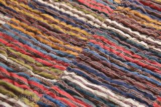 "Manzandaran Jajim circa 1880 with beautiful organic colours with original quilted backing. Approx 8'0"" x 6'0"""