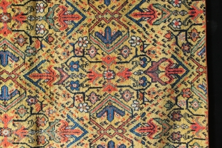 """Beautiful Feregahn carpet fragment, circa 1850. Basically a piece of the field from a much larger item. Still a good size, 5'9"""" x 9'11"""" and full pile."""