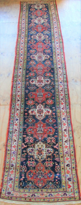 """19th century NW Persian runner in excellent original condition. 14'8"""" x 3'3"""""""