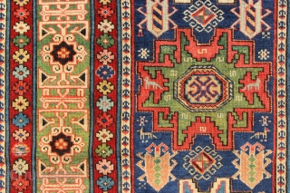 "Super fine early Shirvan runner, dated, with exceptional colours and velvety pile. Circa 1850. 3'2"" x 8'10"""